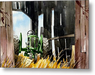 Shaded Shed Metal Print by Art Scholz