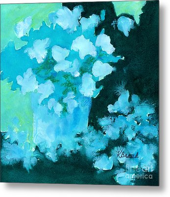 Shades Of Green And Light Metal Print by Kathy Braud