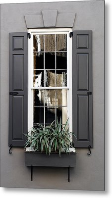 Shades Of Grey In Charleston Metal Print by Skip Willits