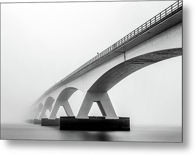 Shades Of Grey Metal Print by Sus Bogaerts