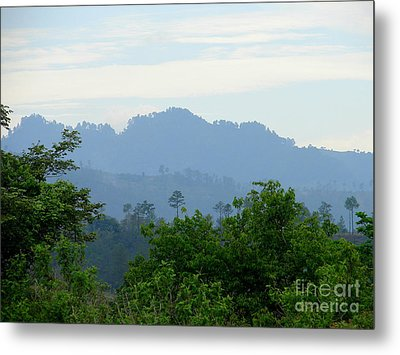 Shades Of Honduran Blue Metal Print by Lew Davis