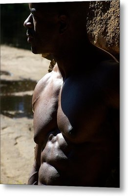 Shades Of Muscle Metal Print