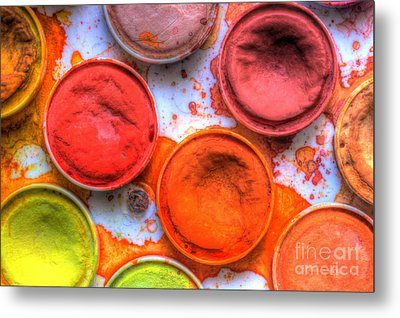 Shades Of Orange Watercolor Metal Print by Heidi Smith