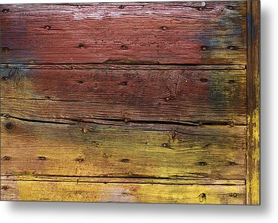 Shades Of Red And Yellow Metal Print by Ron Harpham