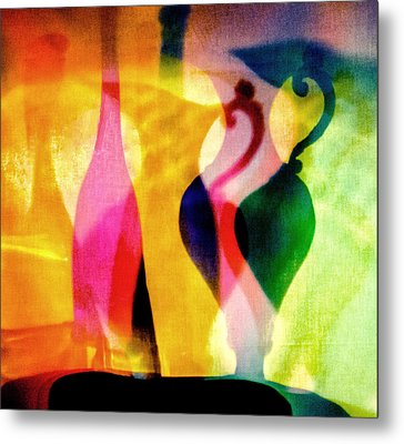 Shades Of Vase And Pitcher Metal Print