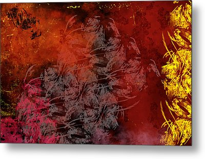 Shadow And Flame Metal Print by Christopher Gaston