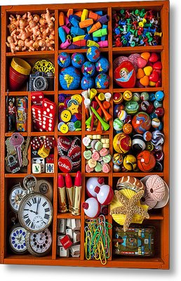 Shadow Box Collection Metal Print by Garry Gay