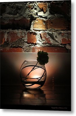 Shadow Flower Metal Print