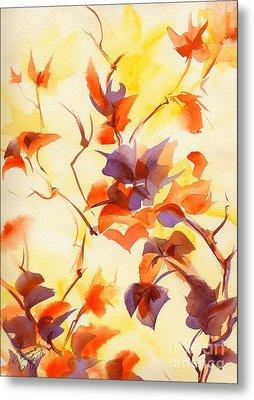 Shadow Leaves Metal Print by Summer Celeste