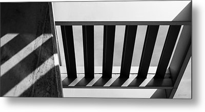 Metal Print featuring the photograph Shadow Lines - Architectural Abstracts by Steven Milner