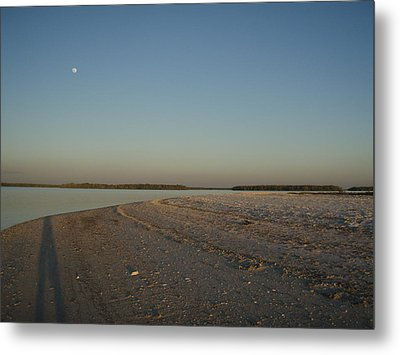 Metal Print featuring the photograph Shadow Moon by Robert Nickologianis