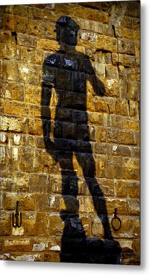 Shadow Of Michaelangelo's David Metal Print by Jenny Setchell