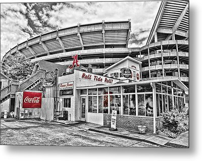 Shadow Of The Stadium - Select Color Metal Print