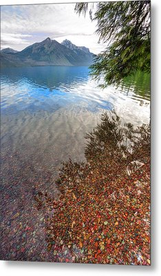 Metal Print featuring the photograph Shadow Pebbles by David Andersen