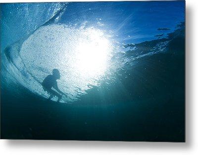 Shadow Surfer Metal Print by Sean Davey