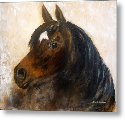 Metal Print featuring the painting Shadow by Barbie Batson