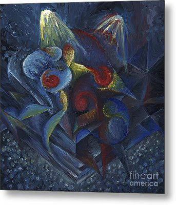 Metal Print featuring the painting Shadowboxing by Tiffany Davis-Rustam