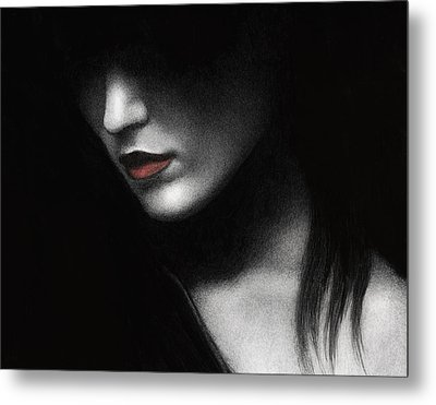 Metal Print featuring the painting Shadowed In My Mind by Pat Erickson
