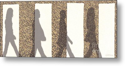 Shadows Of Abbey Road Metal Print by Cristophers Dream Artistry