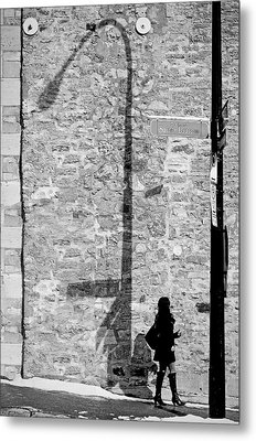 Shadows On St-laurent Metal Print by Valerie Rosen