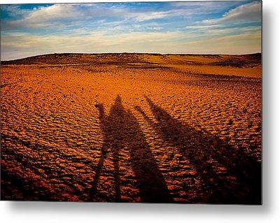 Shadows On The Sahara Metal Print by Mark E Tisdale