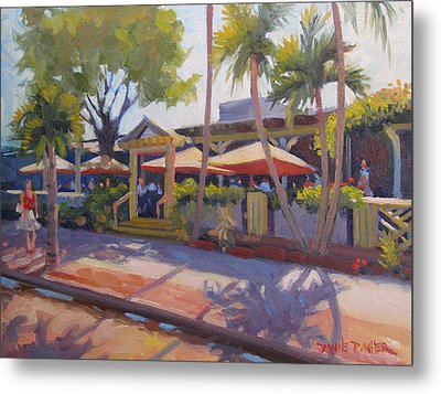 Shadows On Tommy Bahamas Metal Print by Dianne Panarelli Miller