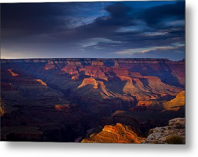 Shadows Play At The Grand Canyon Metal Print
