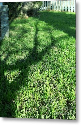 Shadows Reaching Metal Print