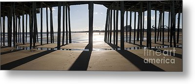 Shadows Under The Pier Metal Print