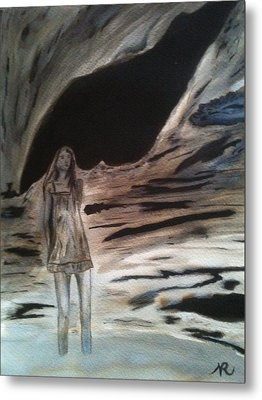 Shadows Will Rise And Face The Wind Metal Print by Nicla Rossini