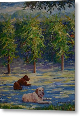 Shady Friends Metal Print by Dorothy Allston Rogers