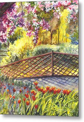 Shakespeare Garden Central Park New York City Metal Print by Carol Wisniewski