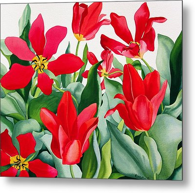 Shakespeare Tulips Metal Print by Christopher Ryland