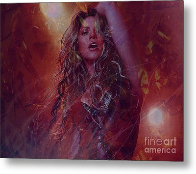 Shakira Metal Print by Jessie Art