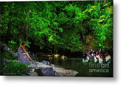 Shall We Gather At The River Metal Print by Lianne Schneider