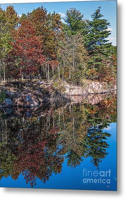 Shambeau Park Fall Reflection Metal Print by Trey Foerster