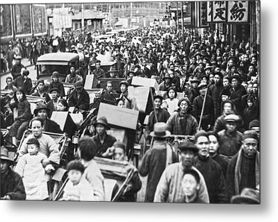 Shanghai China Refugees Metal Print by Underwood Archives
