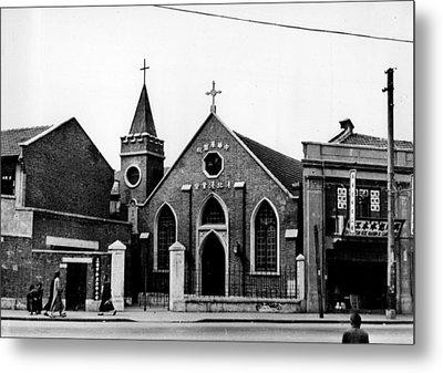 Shanghai Church Metal Print by Retro Images Archive