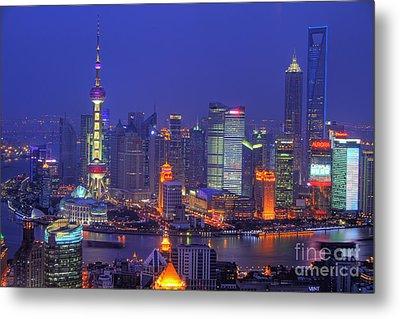 Shanghai's Skyline Metal Print by Lars Ruecker