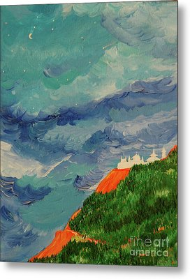 Metal Print featuring the painting Shangri-la by First Star Art