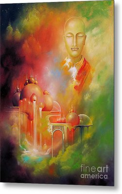 Metal Print featuring the painting Shangrila by Alexa Szlavics