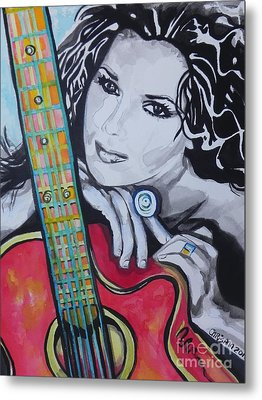 Shania Twain Metal Print by Chrisann Ellis