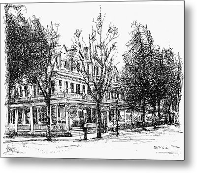 Shanley Hotel Metal Print by Monica Cohen