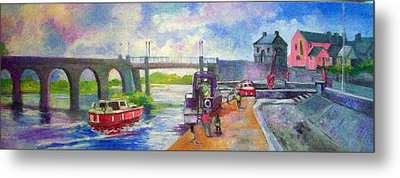 Shannon Bridge Co Offaly Metal Print by Paul Weerasekera