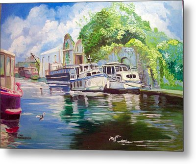 Shannon Harbour Co Offaly Ireland Metal Print by Paul Weerasekera