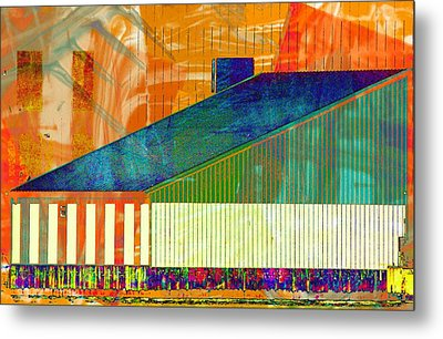 Shapes And Lines Metal Print by Marcia Lee Jones
