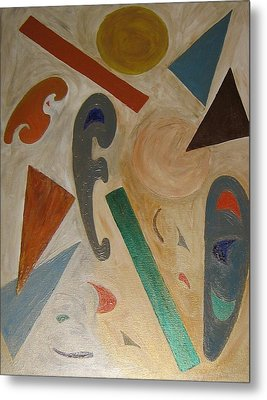Shapes Metal Print by Barbara Yearty