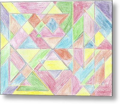 Shapes Of Colour Metal Print by Tracey Williams