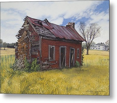 Sharecroppers Shack Metal Print by Peter Muzyka