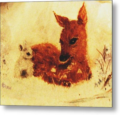 Sharing Secrets Metal Print by Hazel Holland